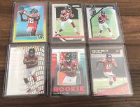 2018 Calvin Ridley (6) Card Rookie Lot! Optic/Prizm Atlanta Falcons