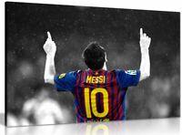 Lionel Messi Barcelona Fc Canvas Wall Art Picture Print