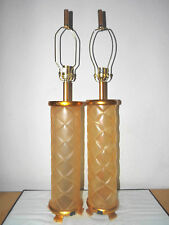 Lamps A Pair Of Hotel Style Fancy Ceramic And Resin Faux Glass Table Lamps