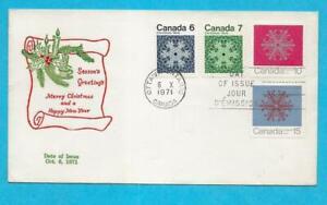 CANADA - 1971 CANADA  CHRISTMAS FDC - SCOTT 554-557 - N798