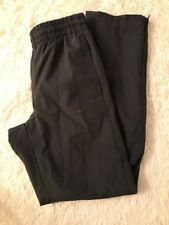 Vintage Nike Track Pants Windbreaker Lined 90 Swoosh Spell Out Men Small