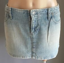 Vintage RIDERS by LEE Faded Blue Denim Mini Skirt Size 14