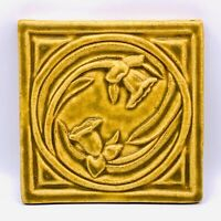 "New 6"" X 6"" Square Pewabic Pottery Detroit Michigan Hanging Tile 2009."