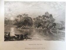 c.1830 Print of Beaulieu Water, Hampshire