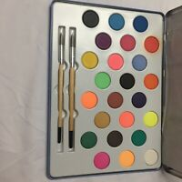 Molly Brett Water Color Box 24 Color Watercolors PaintSet With Two Paintbrushes