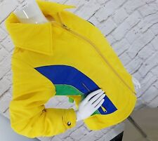 d8bc221e04 VTG Ski Jacket Polyester NYLON Winter RACING JACKET 70s Coat Sz L