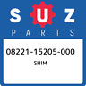08221-15205-000 Suzuki Shim 0822115205000, New Genuine OEM Part