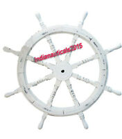 """36"""" Collectible Wooden Ship Wheel Pirate Captain Boat Steering Home Wall"""