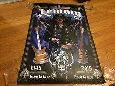 """Motorhead Lemmy 1945-2015 Tribute """"Born to Lose/Lived to Win"""" Wall Poster"""