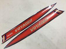 NOS Polaris 70 Voyager Hood Decal Stripes Textured Vintage 7071087 7071088 Lot