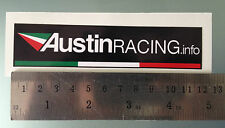 Decal Sticker Austin Racing - 120mm x 27mm