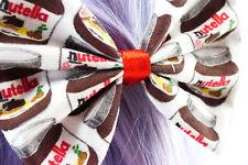 Nutella Kawaii Hair Bow Handmade Hazlenut Spread Cute Hair Clip Chocolate Lovers