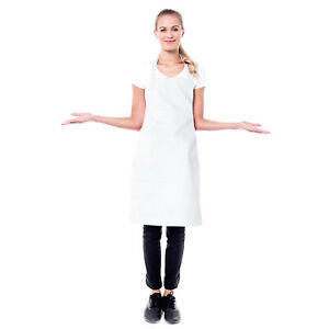 200 protective White Disposable Polythene Plastic covering Aprons 18mu PPE Adult