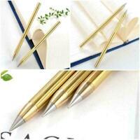 Brass Metal Pen Eternal Pen Inkless Metal Pencil Creative No-Ink M Gift G5N6