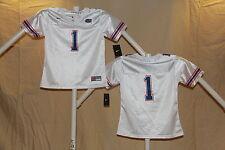 FLORIDA GATORS Nike #1 FOOTBALL JERSEY Youth Girls Large (size 12/14)  NwT white