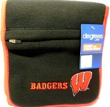 Wisconsin Badgers NCAA Degrees 180's Unisex Fleece SCARF w/Storage Pocket