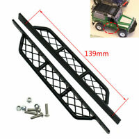 1 Pair Black Metal Side Pedal Plate for 1:10 Crawler Model Car RC 4WD D90 Body