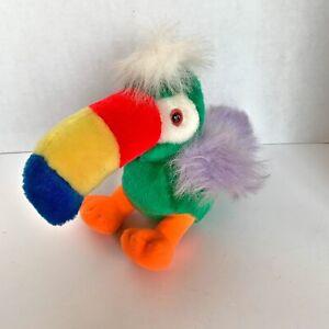 Toucan Plush Green Stuffed Animal Bird Princess Soft Toys Rainbow Foods PB2