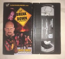 WWF - Breakdown In Your House (VHS, 1998) WWE WCW nWo STONE COLD UNDERTAKER KANE