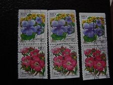 SUEDE - timbre yvert et tellier n° 2043 2044 x3 obl (A29) stamp sweden (Z)