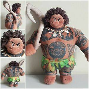 """Disney Store Moana Maui Large Soft Plush Doll 17"""" Official Great Condition"""