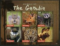 GAMBIA 2015 ANIMALS OF THE GAMBIA  SHEET  MINT NH