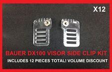 Bauer DX100 Side Clip Visor Kit! 12 Pack 6 L 6 R, Hockey Helmet Hardware 1034748