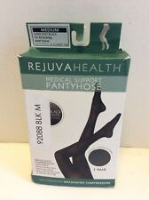 Rejuva Medical Support Compression Pantyhose 15-20 mmHg Black Polka Dot Size M