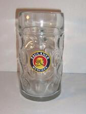 1 Litre Paulaner Munchen Rastal Stein Beer Glass Mug Dimpled Clear -051658
