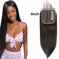 Straight Human Hair 6x6 inches Lace Closure pre plucked closure brazilian hair