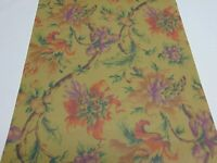 VINTAGE DOUBLE ROLL-WALLPAPER YORK CAREY LIND DARK OLIVE GREEN FLORAL-VINES