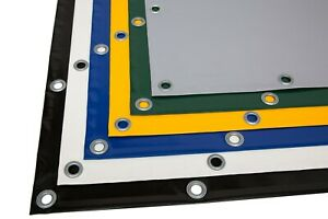 LKW Plane PVC Material mit Ösen Rundösen OHNE Saum (5m-6m breit) 730g/m²