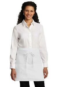 A706 Port Authority Easy Care Half Bistro Apron with Stain