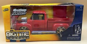 JADA 1/24 BIGTIME MUSCLE RED  *VHTF VERSION* 1956 FORD F-100 TRUCK NEW SEALED