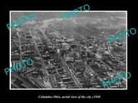 OLD LARGE HISTORIC PHOTO OF COLUMBUS OHIO AERIAL VIEW OF THE CITY c1940 2
