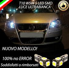 COPPIA LUCI POSIZIONE 5 LED PER VW POLO 9N T10 W5W BIANCO CANBUS 100% NO ERRORE