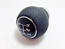5 Speed Shift Lever Knob Gear Stick Perforated Leather FIAT PUNTO 500 ABARTH