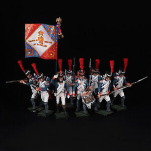 Tin soldier, Set of fusilier grenadiers France (8 miniatures) 54 mm