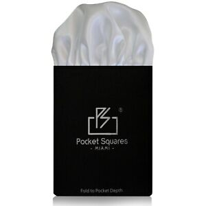 Pre Folded Pocket Square ...Satin Puff Collection