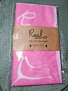 Real Active 'Be Calm' Workout Towel 85cm x 50cm