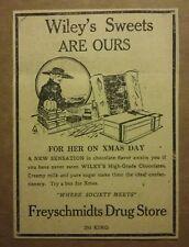 1919 Freyschmidts Drug Store Ad Wileys Sweets