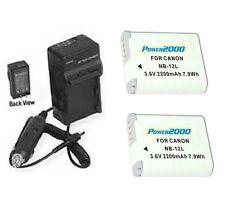 2X Batteries NB-12L +Charger for Canon PowerShot G1 X Mark II  N100 VIXIA mini X