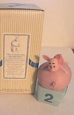 """Disney Pooh & Friends-Nib! """"Birthday # 2 Piglet""""2 is for growing fast and faster"""