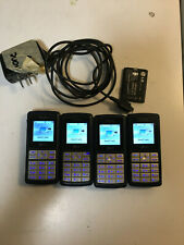 Lot of FOUR (4) LG CG180 AT&T GSM 2G Cell Phones, with charger and extra battery