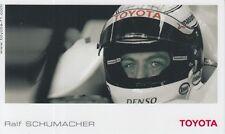 Ralf Schumacher Toyota Formula 1 Promo Card F1.