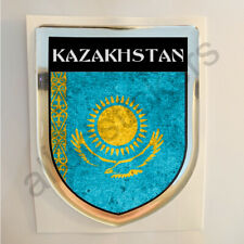 Kazakhstan Sticker Resin Domed Stickers Flag Grunge 3D Adhesive Decal Gel Car