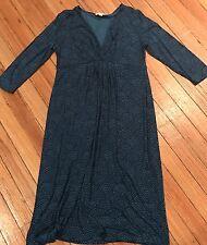 Boden Blu GRAPHIC Print Long Sleeve Jersey Dress Size 16