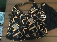 unbranded 2 piece bathing suit...top 14/16-bottoms 12 - needs repairs - pics -