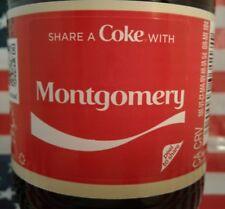 Share A Coke With Montgomery 2018 Personalized Coca Cola Vanilla Bottle
