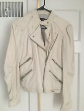 Zara Size L Leather Cream Jacket Sold Out